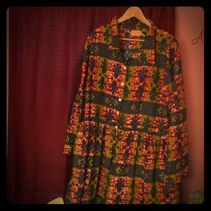 Dresses & Skirts - Size 24 Grass fields African Print dress